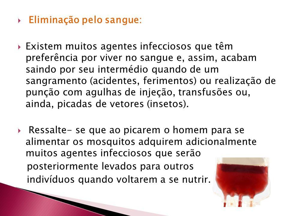 Eliminação pelo sangue: