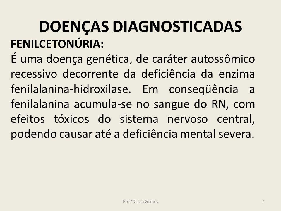 DOENÇAS DIAGNOSTICADAS