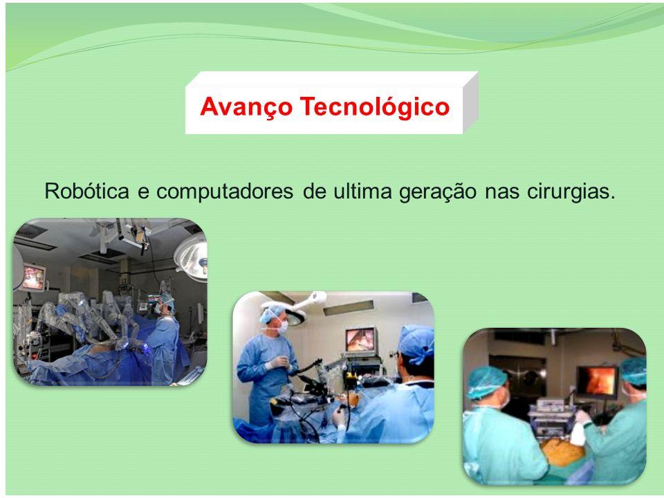 Avanço Tecnológico Robótica e computadores de ultima geração nas cirurgias.