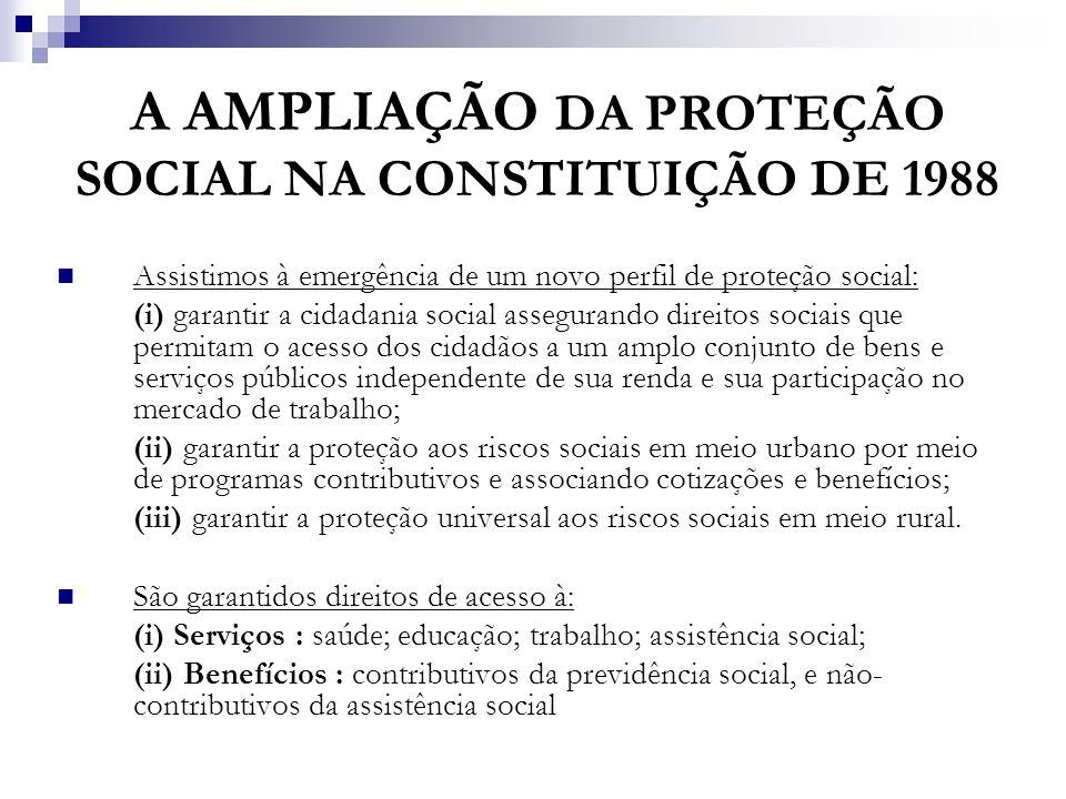 A AMPLIAÇÃO DA PROTEÇÃO SOCIAL NA CONSTITUIÇÃO DE 1988