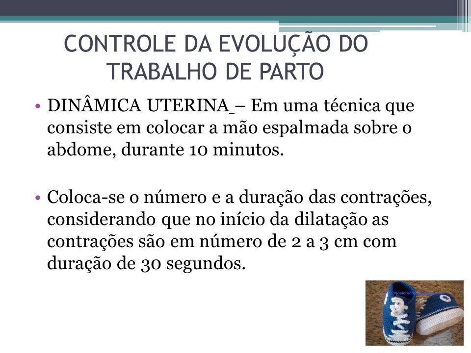 CONTROLE DA EVOLUÇÃO DO TRABALHO DE PARTO