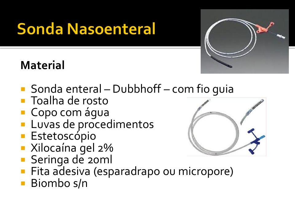 Sonda Nasoenteral Material Sonda enteral – Dubbhoff – com fio guia