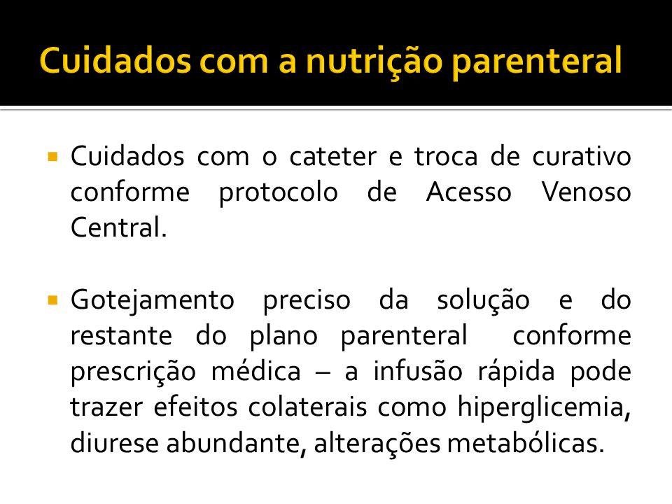 Cuidados com a nutrição parenteral