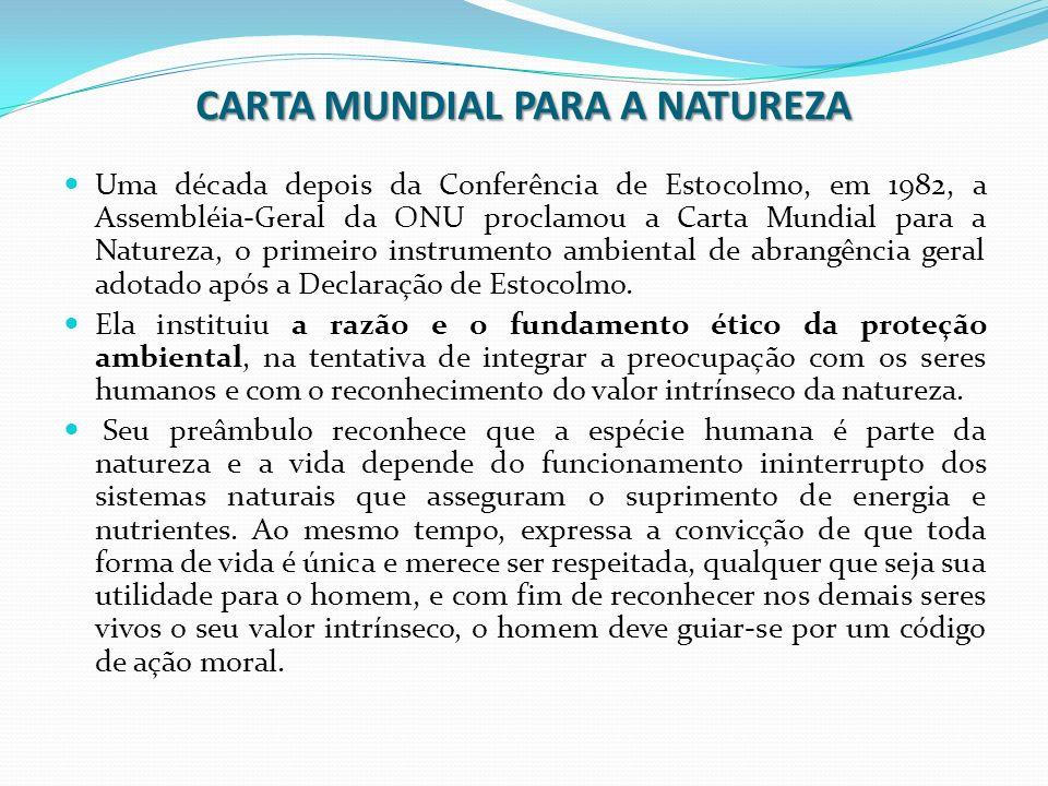CARTA MUNDIAL PARA A NATUREZA