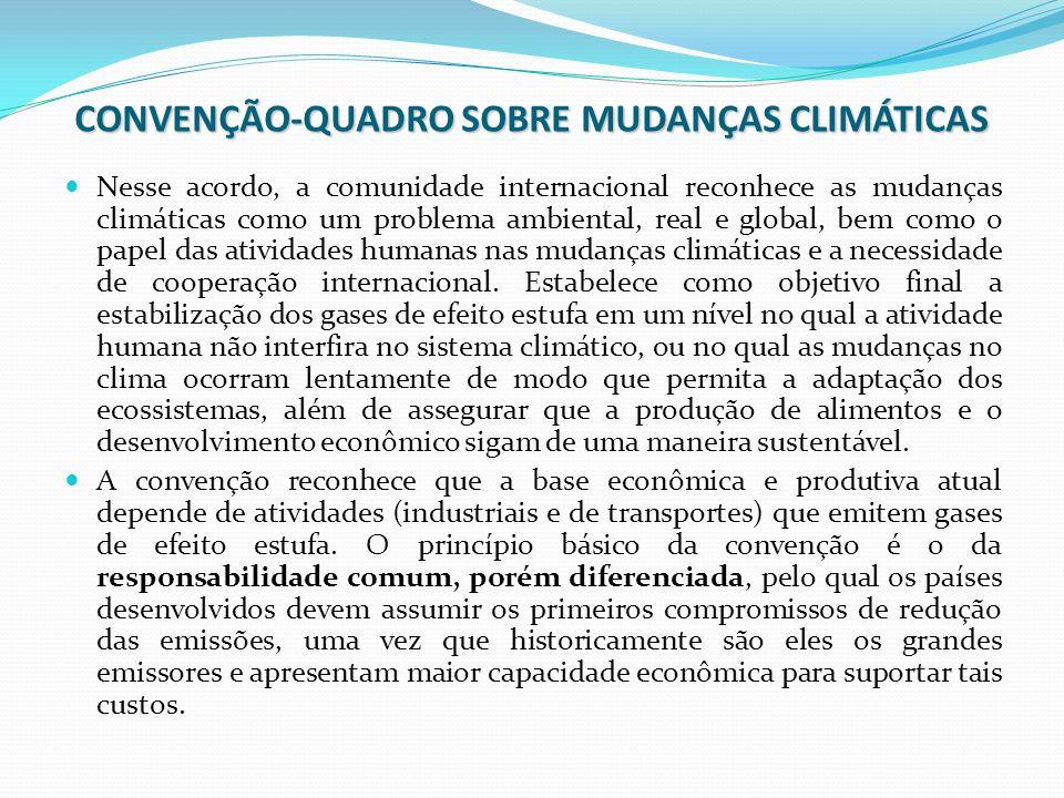 CONVENÇÃO-QUADRO SOBRE MUDANÇAS CLIMÁTICAS