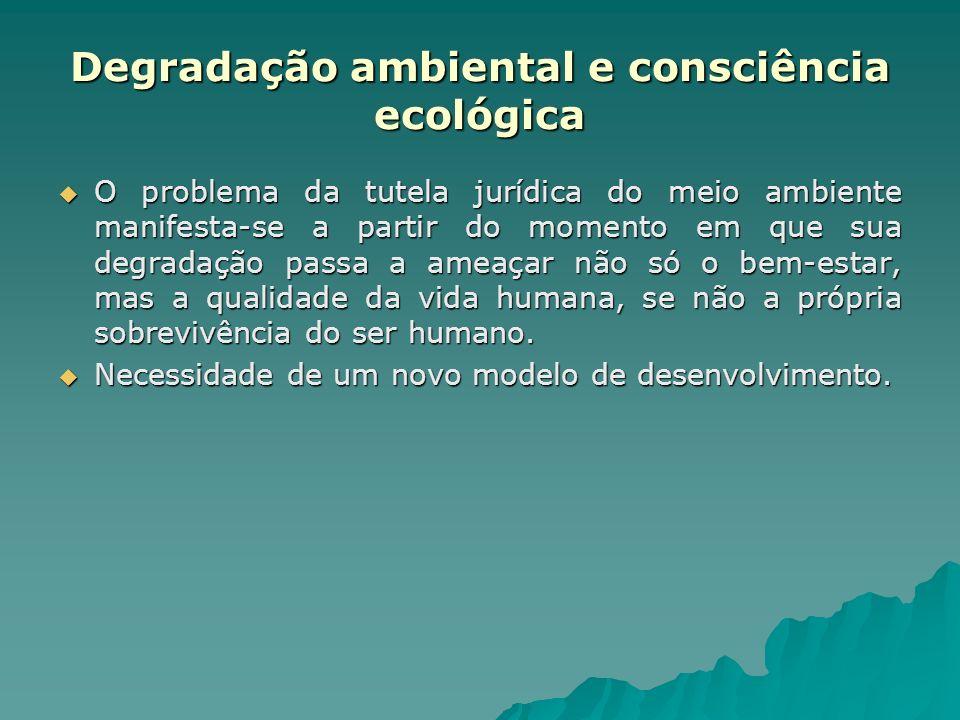 Degradação ambiental e consciência ecológica