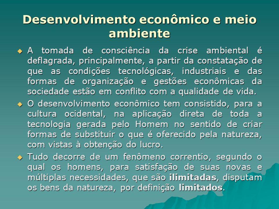 Desenvolvimento econômico e meio ambiente