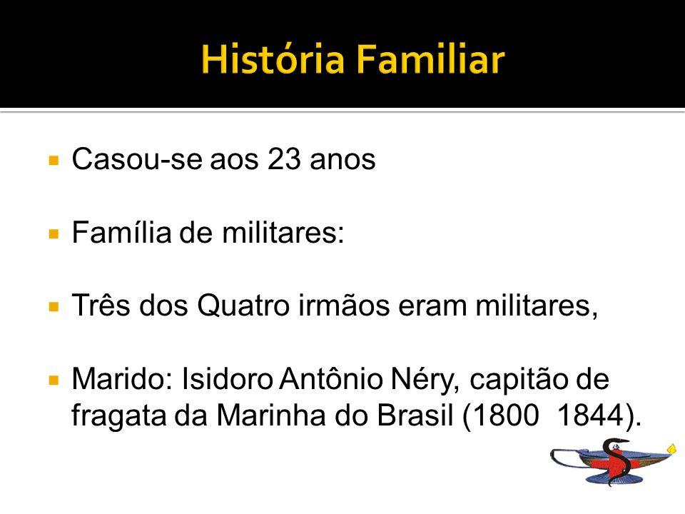 História Familiar Casou-se aos 23 anos Família de militares: