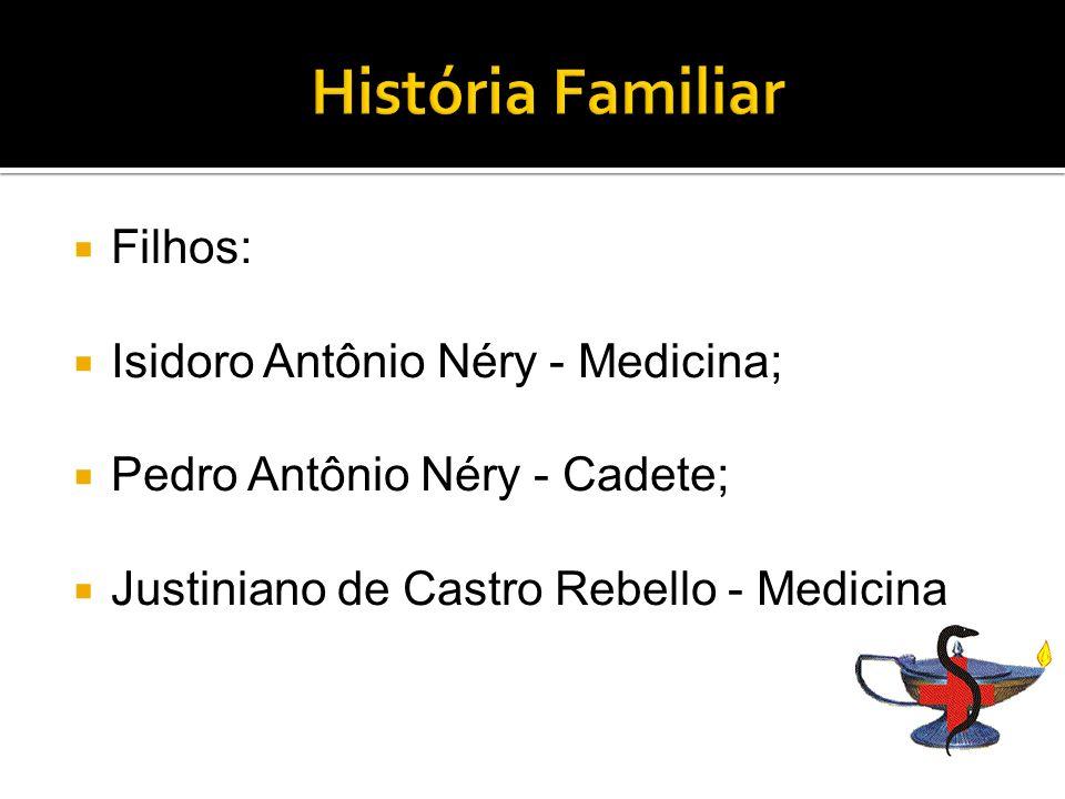 História Familiar Filhos: Isidoro Antônio Néry - Medicina;