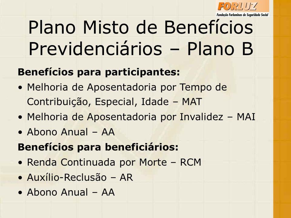 Plano Misto de Benefícios Previdenciários – Plano B