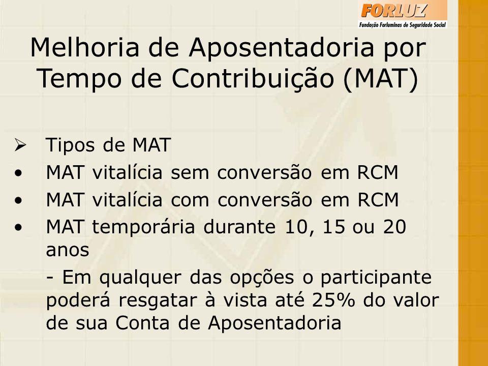 Melhoria de Aposentadoria por Tempo de Contribuição (MAT)