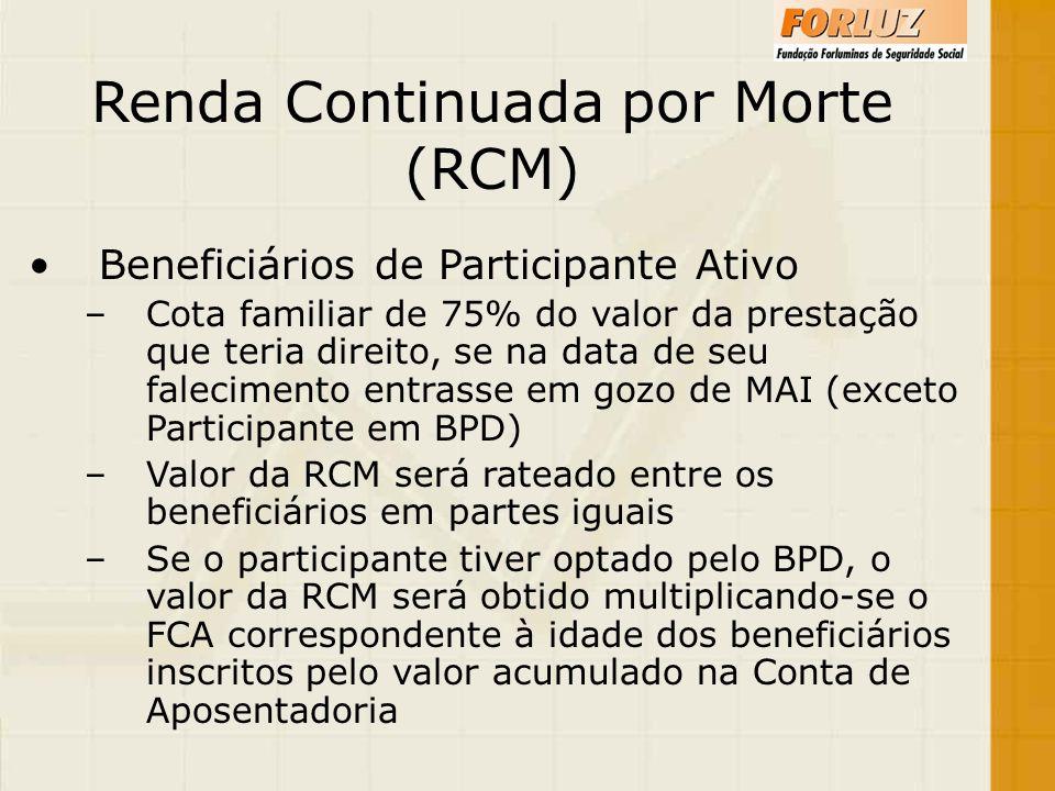 Renda Continuada por Morte (RCM)