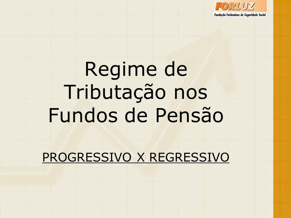 Regime de Tributação nos Fundos de Pensão PROGRESSIVO X REGRESSIVO