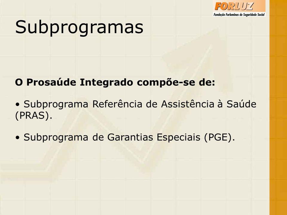 Subprogramas O Prosaúde Integrado compõe-se de: