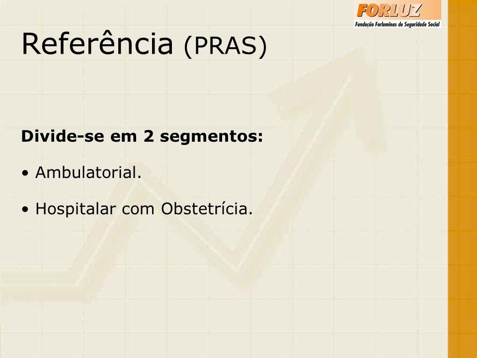 Referência (PRAS) Divide-se em 2 segmentos: Ambulatorial.