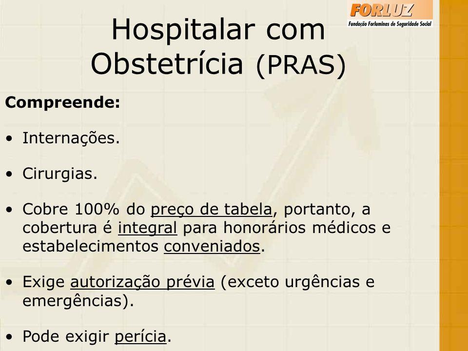 Hospitalar com Obstetrícia (PRAS) Compreende: Internações. Cirurgias.