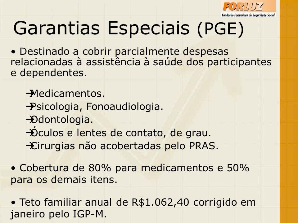 Garantias Especiais (PGE)