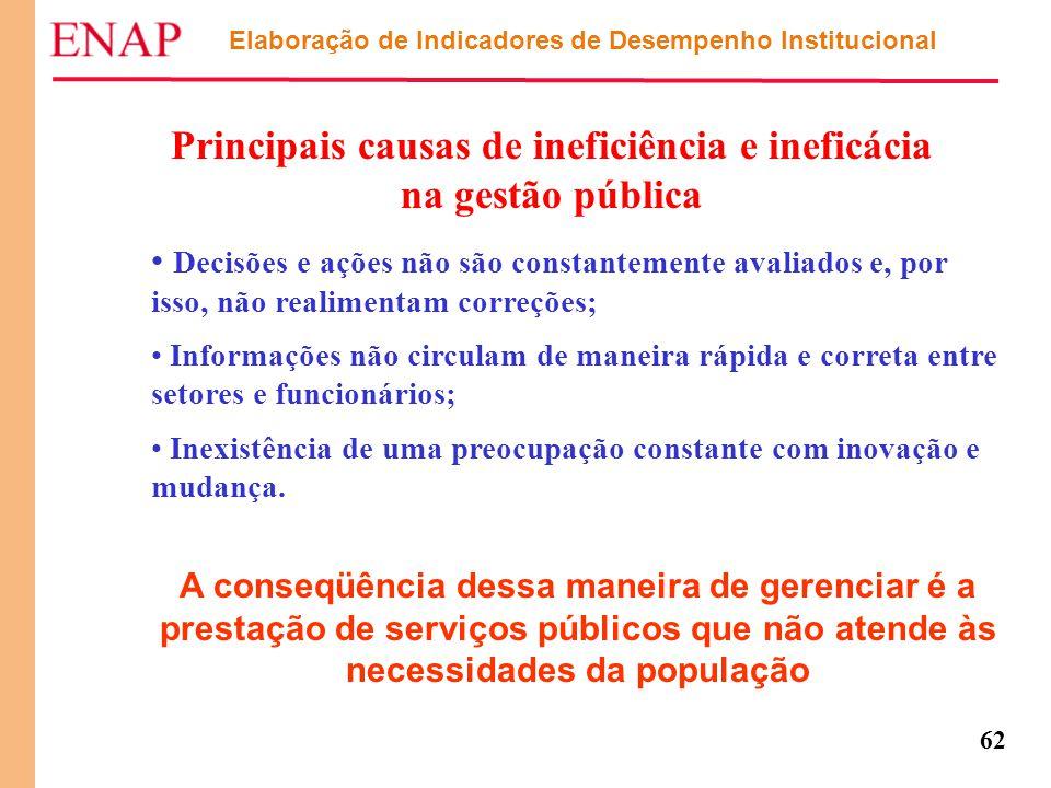 Principais causas de ineficiência e ineficácia na gestão pública