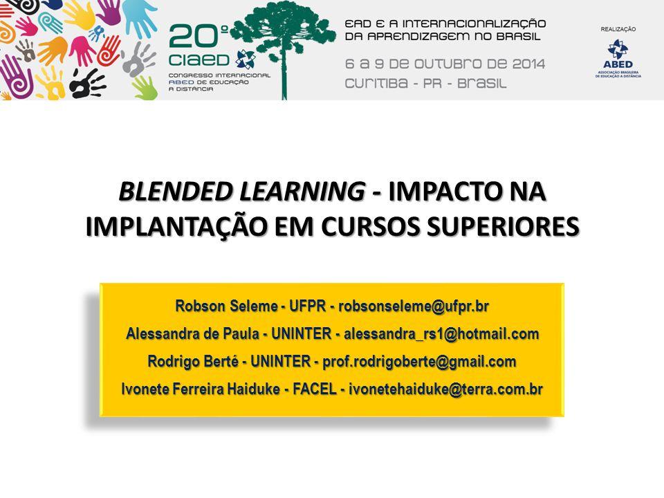 BLENDED LEARNING - IMPACTO NA IMPLANTAÇÃO EM CURSOS SUPERIORES