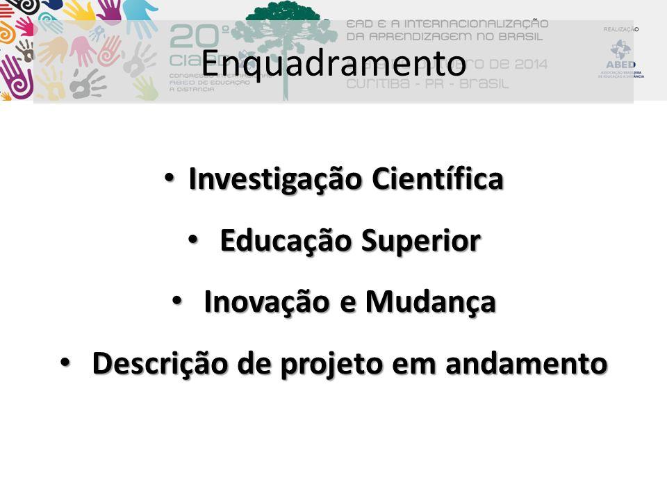 Enquadramento Investigação Científica Educação Superior