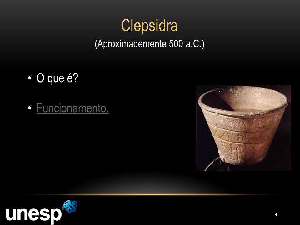 Clepsidra (Aproximademente 500 a.C.) O que é Funcionamento.