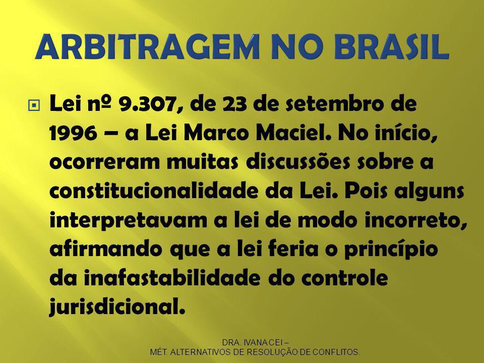 MÉT. ALTERNATIVOS DE RESOLUÇÃO DE CONFLITOS.