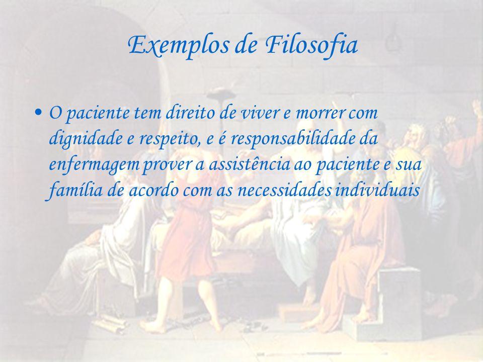 Exemplos de Filosofia