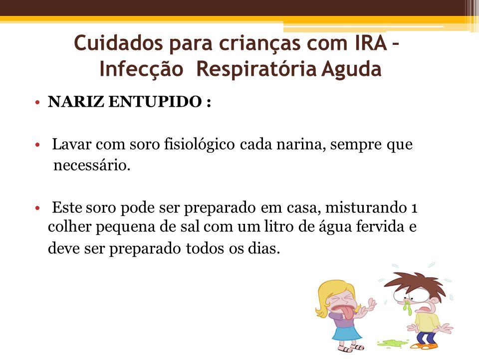 Cuidados para crianças com IRA – Infecção Respiratória Aguda