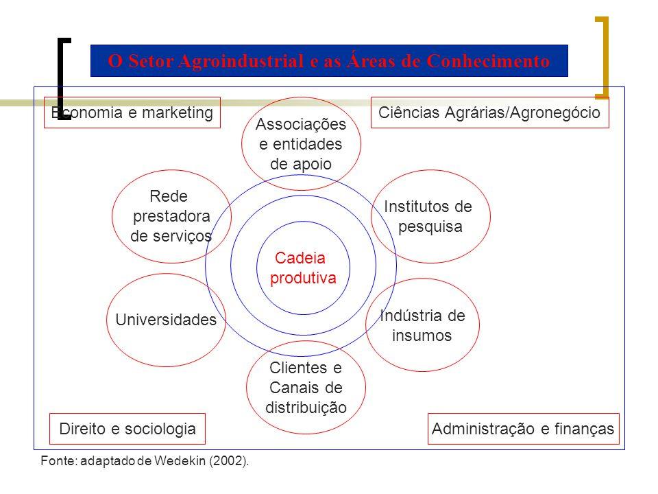 O Setor Agroindustrial e as Áreas de Conhecimento