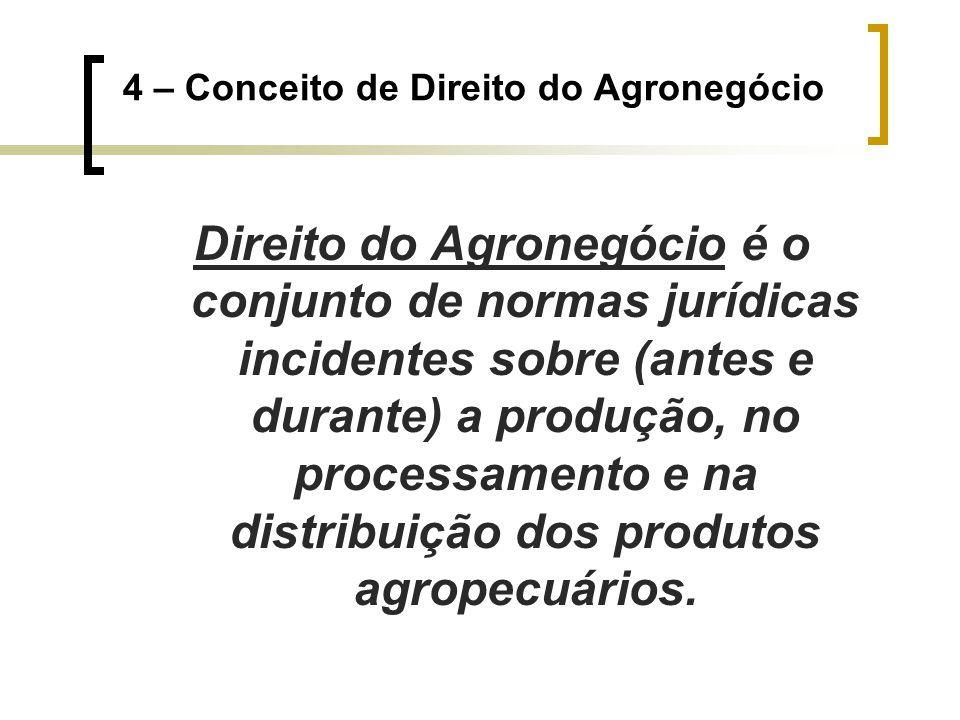 4 – Conceito de Direito do Agronegócio