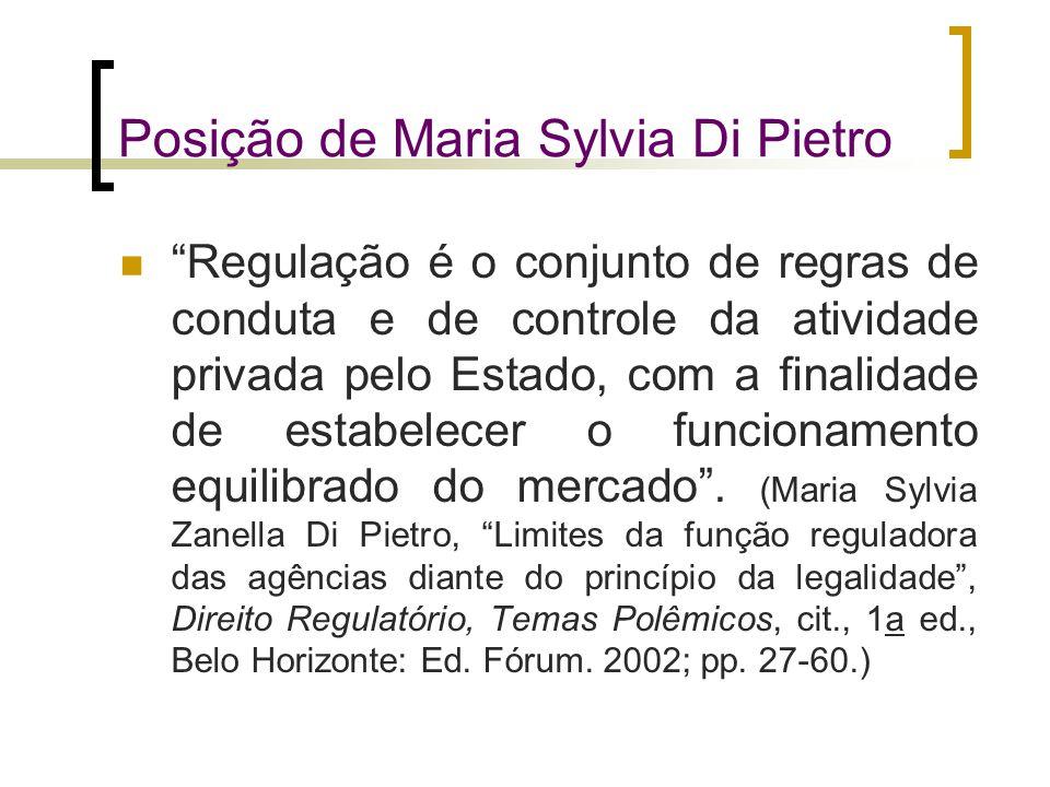 Posição de Maria Sylvia Di Pietro