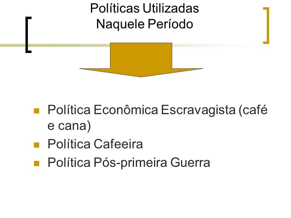 Políticas Utilizadas Naquele Período
