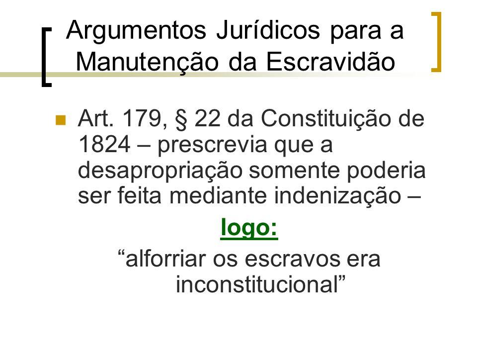Argumentos Jurídicos para a Manutenção da Escravidão