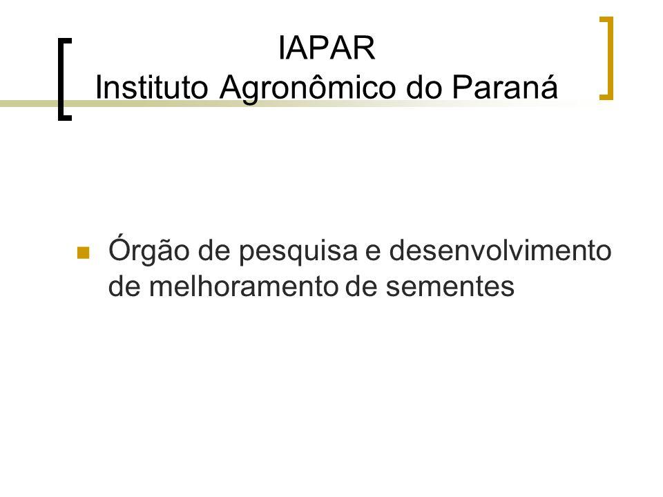 IAPAR Instituto Agronômico do Paraná