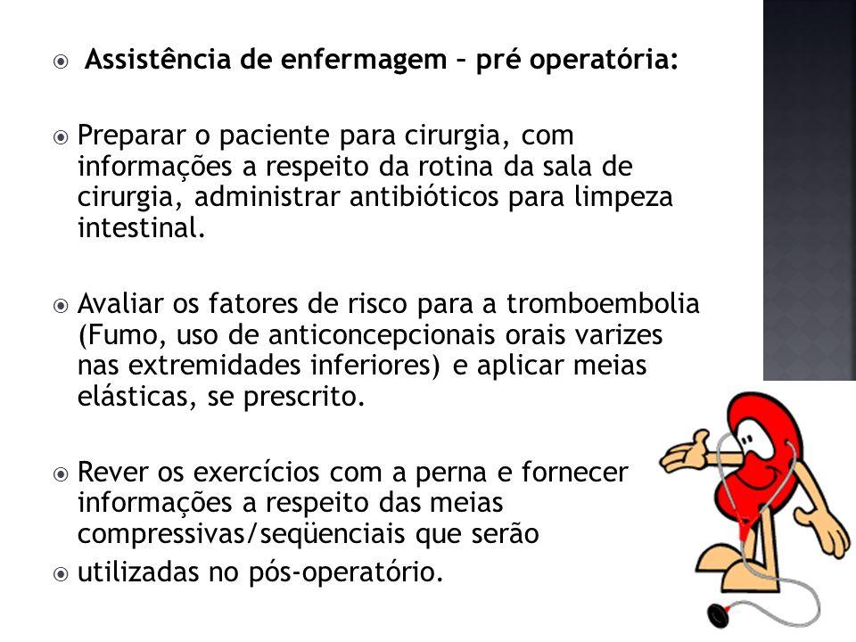 Assistência de enfermagem – pré operatória: