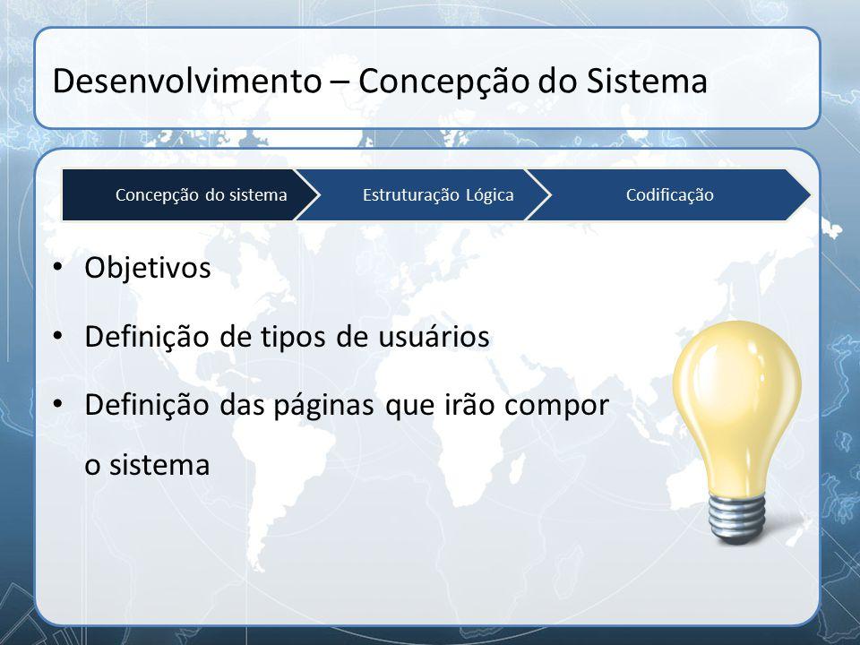 Desenvolvimento – Concepção do Sistema