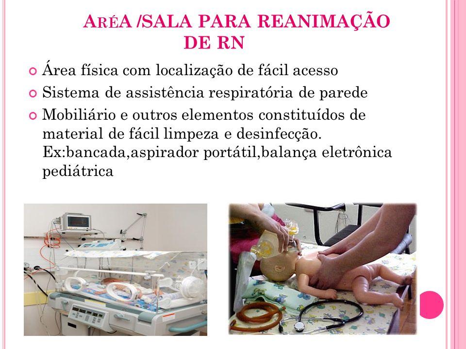 AréA /SALA PARA REANIMAÇÃO DE RN