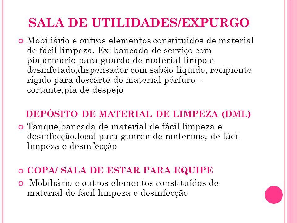 SALA DE UTILIDADES/EXPURGO