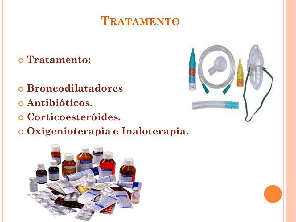 Tratamento Tratamento: Broncodilatadores Antibióticos,
