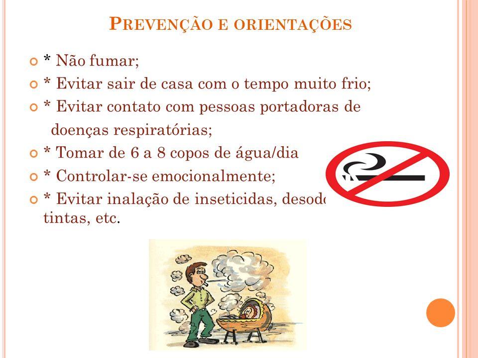 Prevenção e orientações