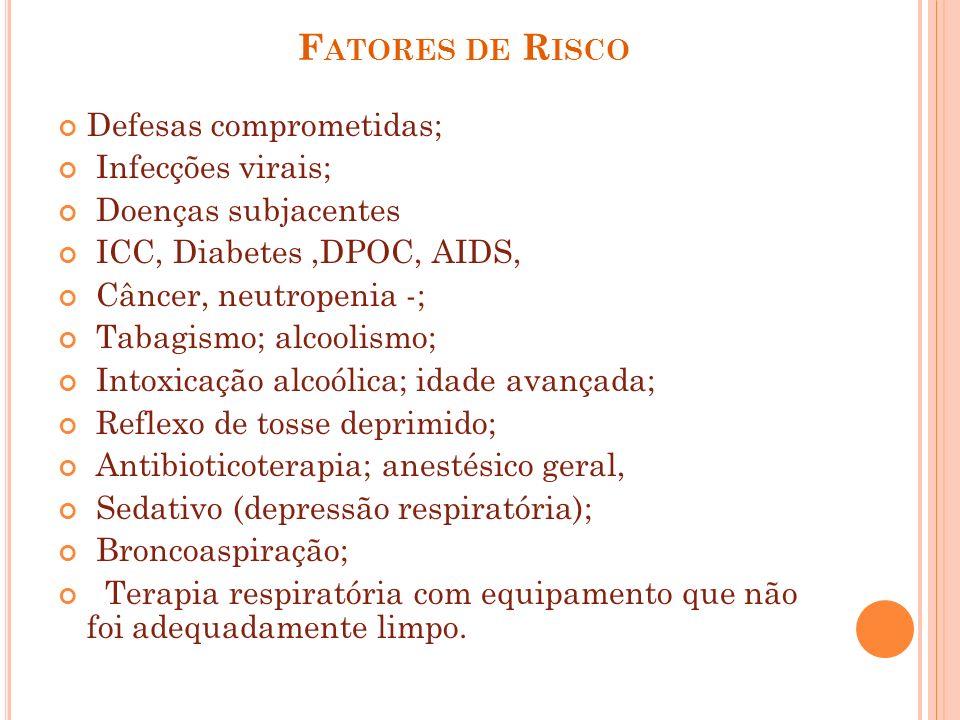 Fatores de Risco Defesas comprometidas; Infecções virais;