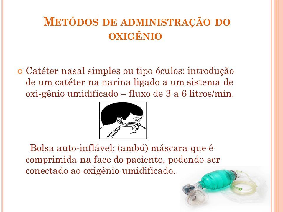 Metódos de administração do oxigênio