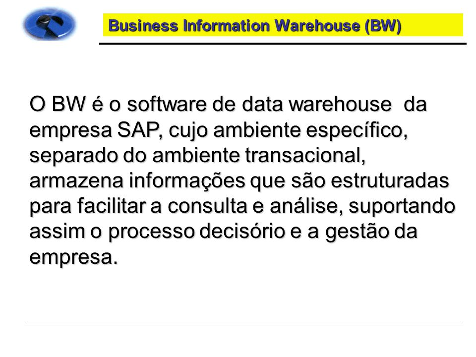 Business Information Warehouse (BW)