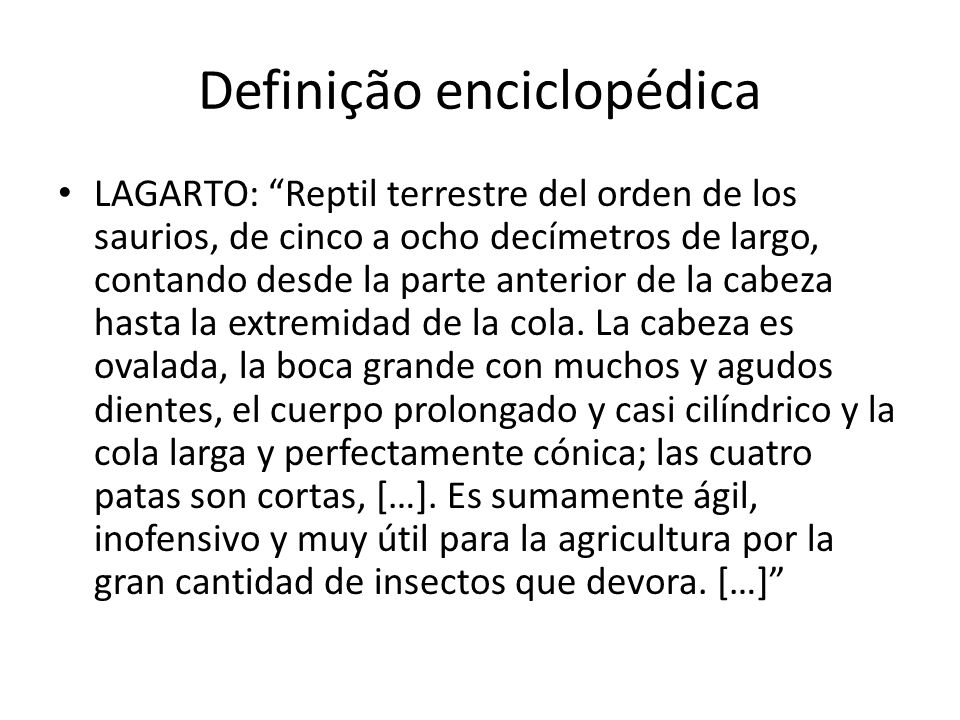 Definição enciclopédica