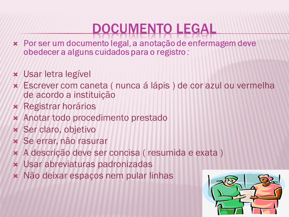 Documento Legal Usar letra legível