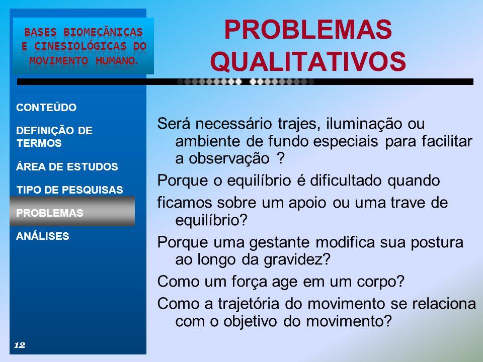 PROBLEMAS QUALITATIVOS