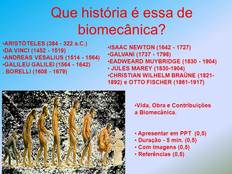 Que história é essa de biomecânica