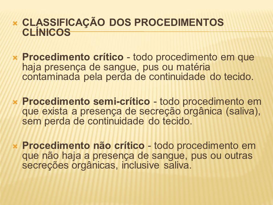 CLASSIFICAÇÃO DOS PROCEDIMENTOS CLÍNICOS