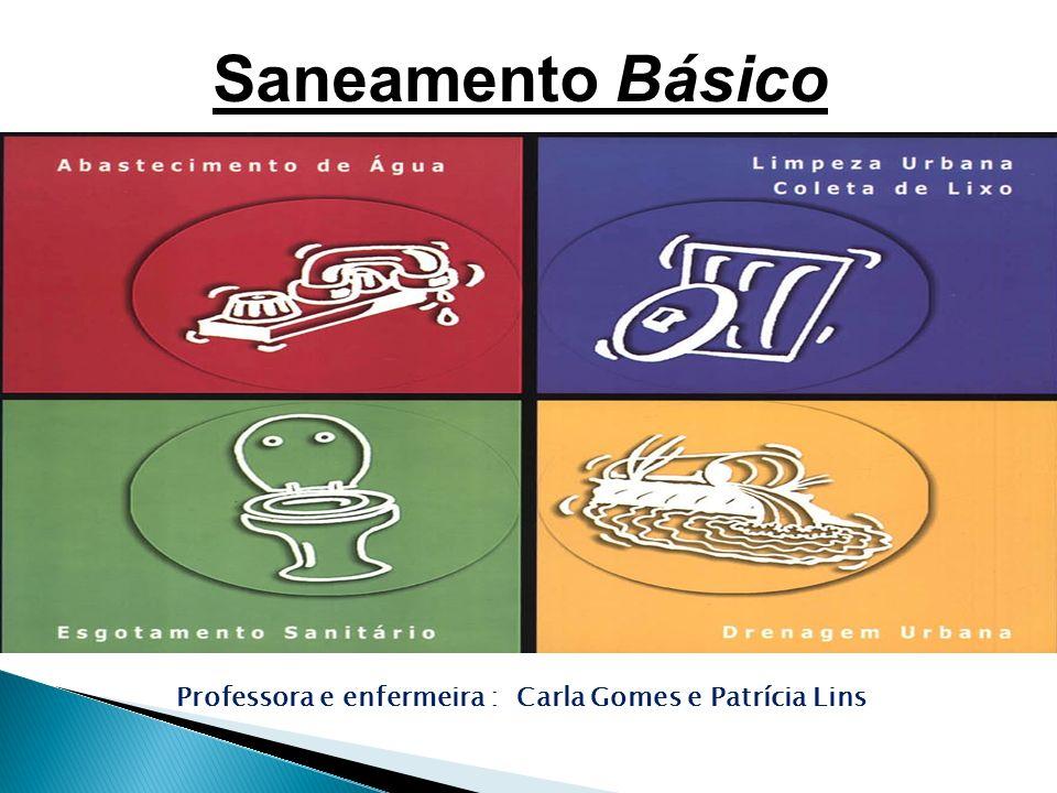 Saneamento Básico Professora e enfermeira : Carla Gomes e Patrícia Lins
