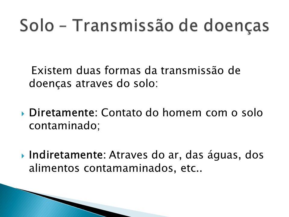 Solo – Transmissão de doenças